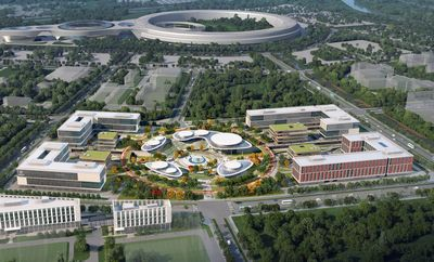 Start-up Area im Baugebiet A der Huairou Science City in Peking