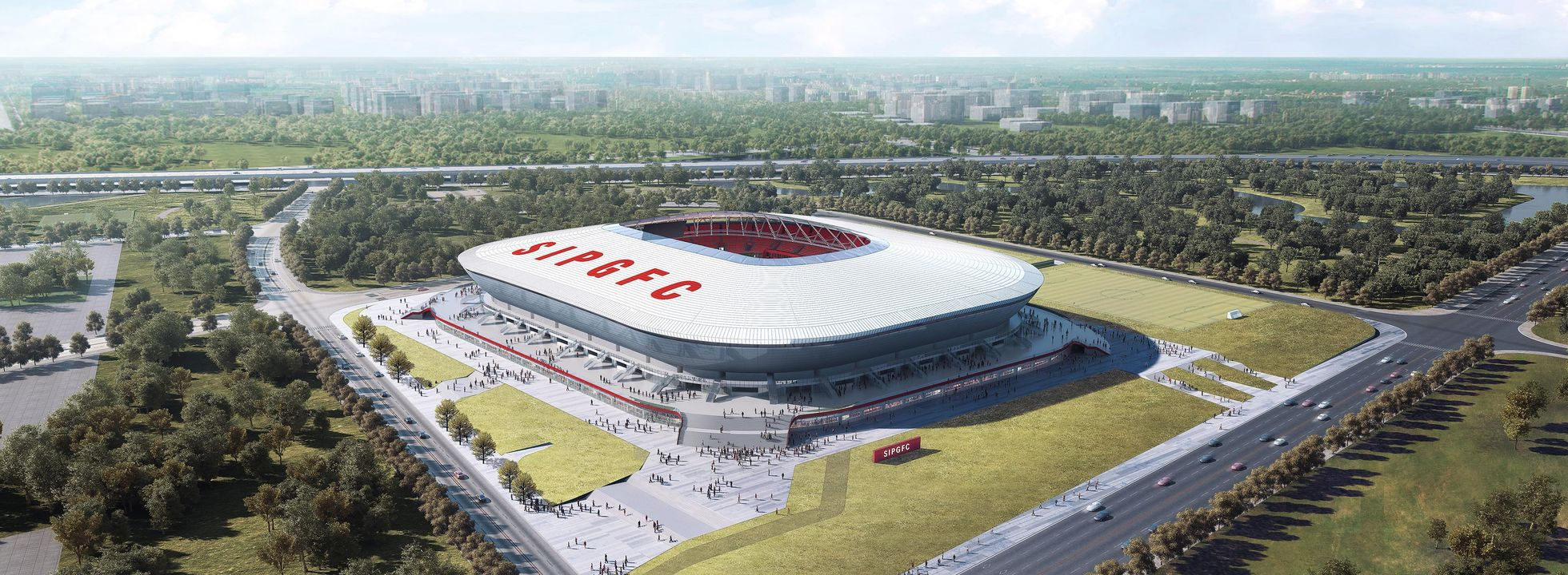 Visualisierung Pudong Soccer Arena