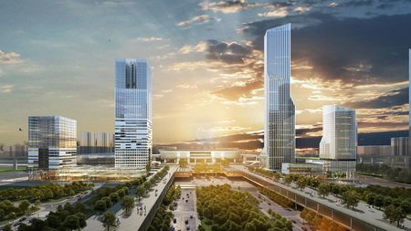 Visualisation Shenzen North Station Towers