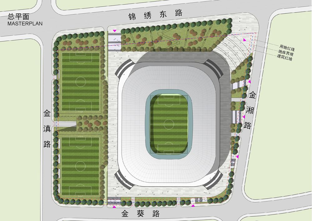 Zeichnung Pudong Soccer Arena