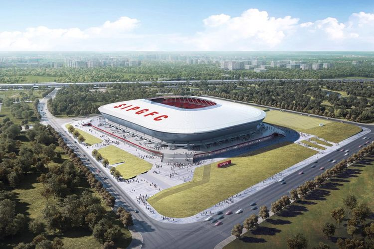 Visualisation Pudong Soccer Arena
